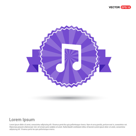 Music note icon - Purple Ribbon banner