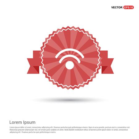 Signal icon - Red Ribbon banner Ilustracja