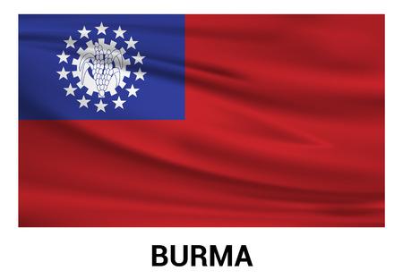 Burma flag design vector
