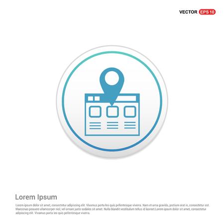Clapper board icon - white circle button Illustration