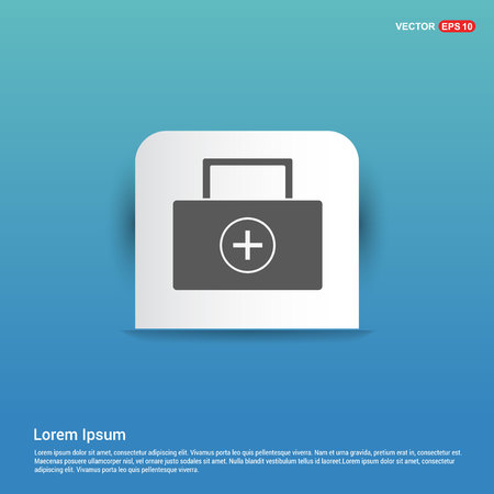 Medical kit icon - Blue Sticker button