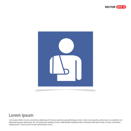patient, icon - Blue photo Frame
