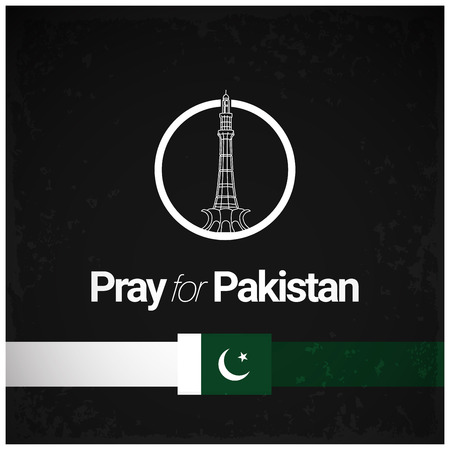Pray for Pakistan with typographic design vector Ilustração