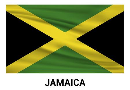 Vecteur de conception de drapeau de la Jamaïque