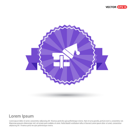 Snowflake flat icon - Purple Ribbon banner Archivio Fotografico - 118277960