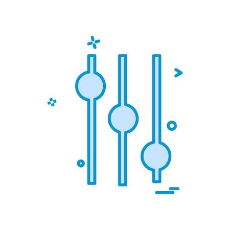 Equalizer icon design vector  イラスト・ベクター素材