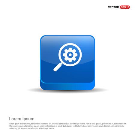Search Gear Icon - 3d Blue Button.