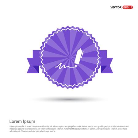 Writing pen icon - Purple Ribbon banner  イラスト・ベクター素材