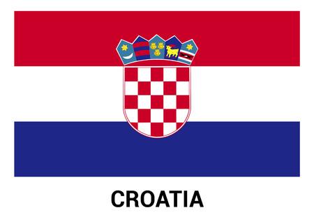 Croatia flag design vector