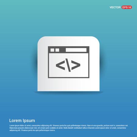 Clapper board icon - Blue Sticker button