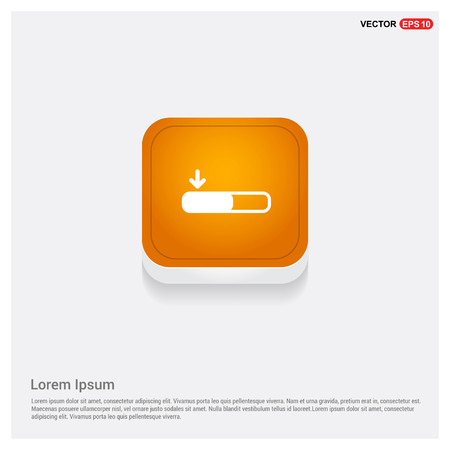 Download Icon Orange Abstract Web Button - Free vector icon