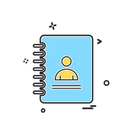 Phonebook icon design vector