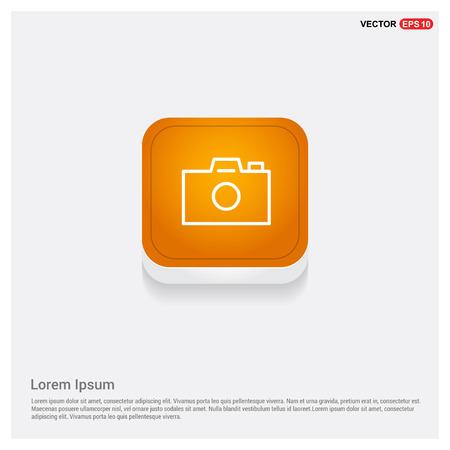 Photo camera icon Orange Abstract Web Button - Free vector icon