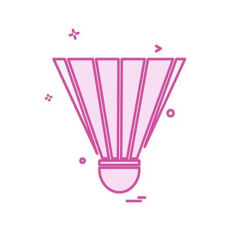 Badminton Shuttle icon design vector  イラスト・ベクター素材