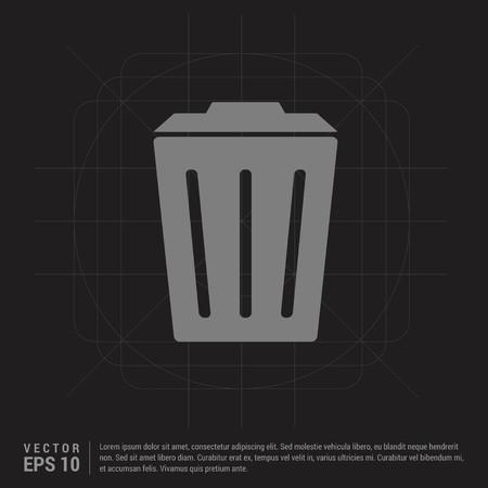 Delete Icon - Black Creative Background - Free vector icon