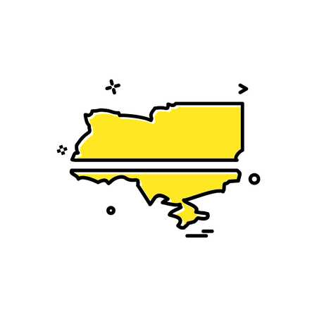 Ukraine icon design vector