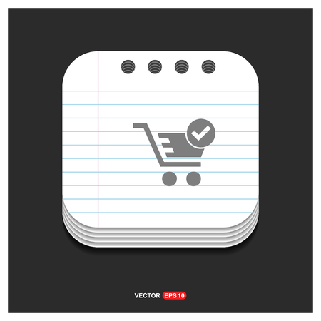 Shopping Cart and plus Sign - Free vector icon