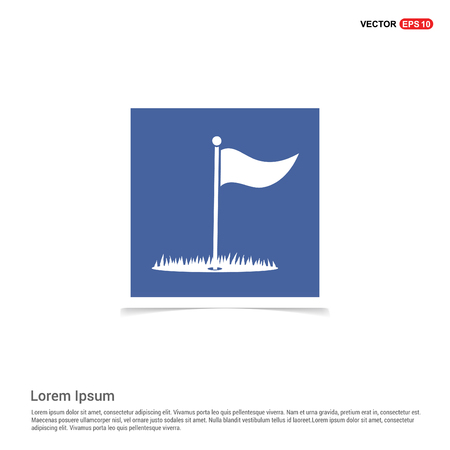 Golf Flag Icon - Blue photo Frame Illusztráció