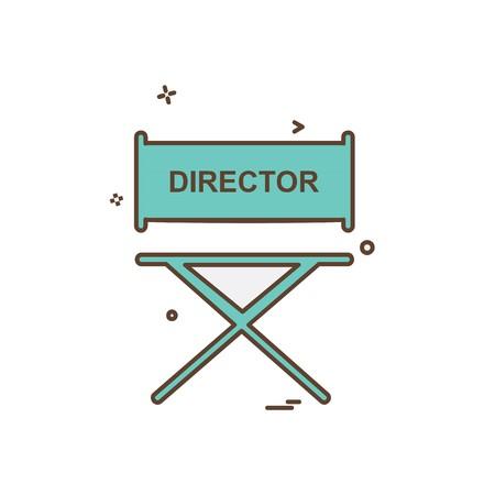 Director icon design vector