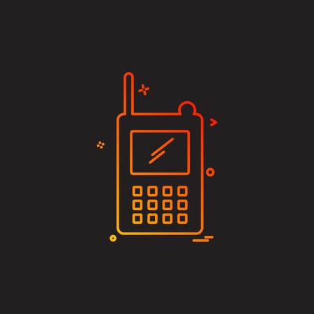 communication device police radio walkie talkie icon vector design