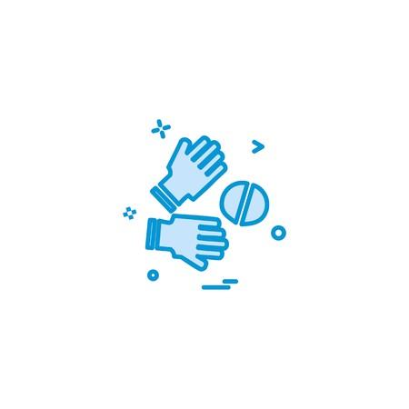 Catch cricket  gloves  wicketkeeper icon vector design 写真素材 - 111030589