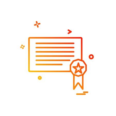 Certificates icon design vector