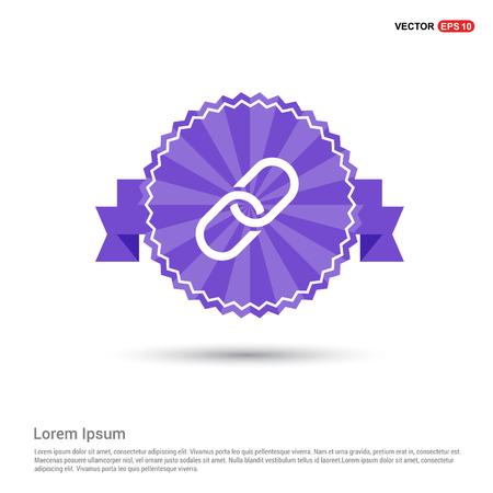 paper clip icon - Purple Ribbon banner
