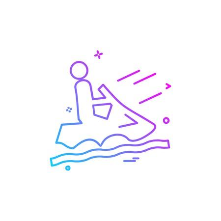 Steamer riding icon design vector