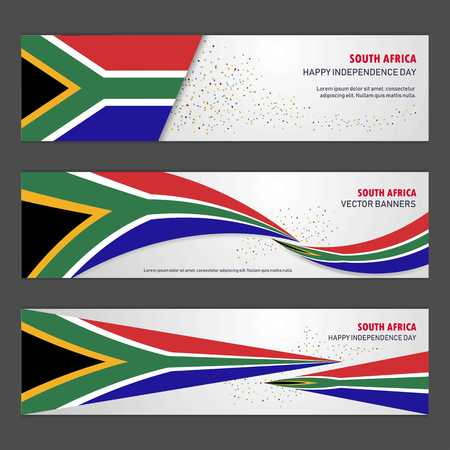South Africa independence day abstract background design banner and flyer, postcard, landscape, celebration vector illustration