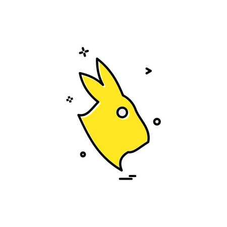 Rabbit icon design vector