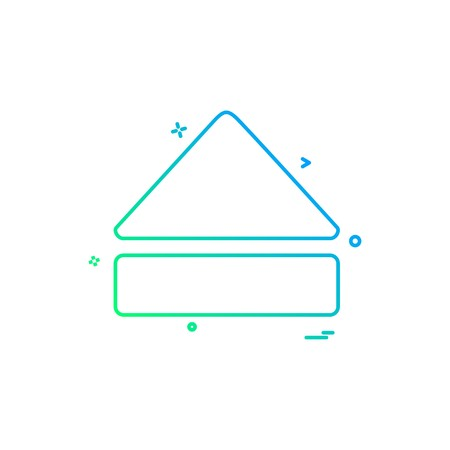 Eject icon design vector Illustration