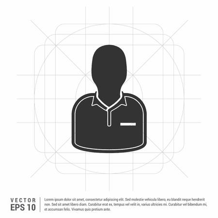 Football Referee Icon Vektoros illusztráció