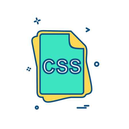 CSS file type icon design vector