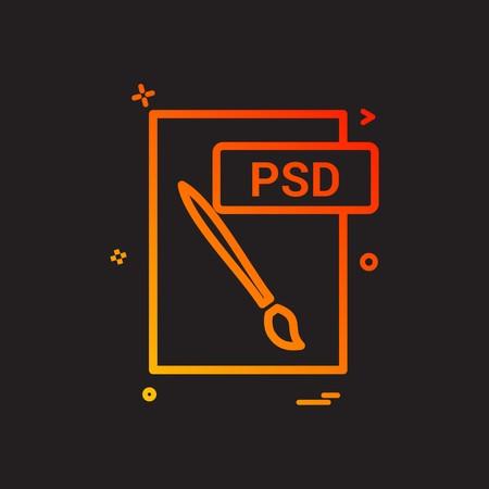 psd file format icon vector design