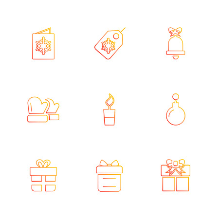 Christmas eve , snowflakes, tress , christmas , candies , new year , celebration , giftboxes , gift , snowfall , winters , time , dress , icon, vector, design,  flat,  collection, style, creative,  icons Illustration