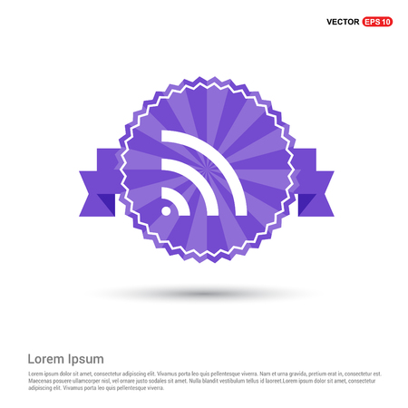 WiFi Icon - Purple Ribbon banner