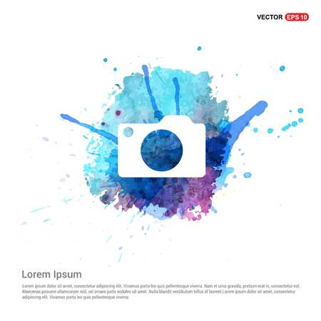 Photo camera icon - Watercolor Background Ilustracja