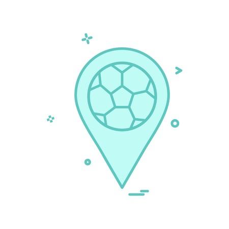 map football icon vector design