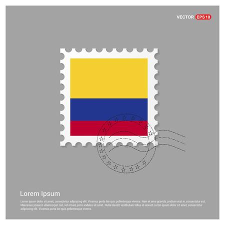 Colimbia flag design vector