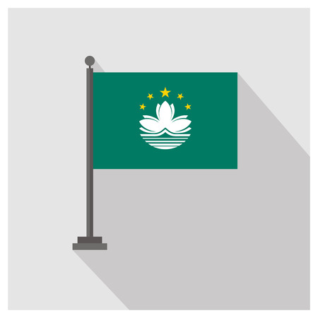 Country flag with creative design vector