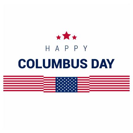 Happy Columbus day design vector Foto de archivo - 111078475