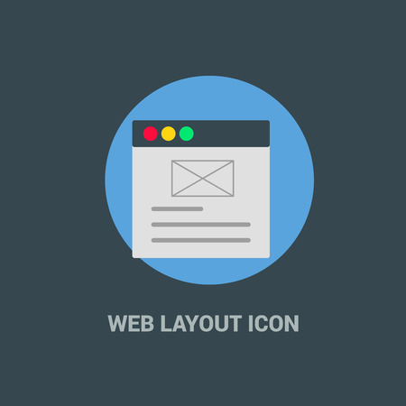 Web layout icon with creative design vector