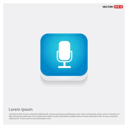 Microphone icon Vettoriali