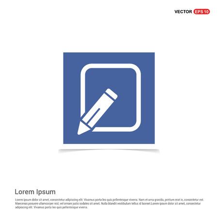 Edit, pencil icon - Blue photo Frame