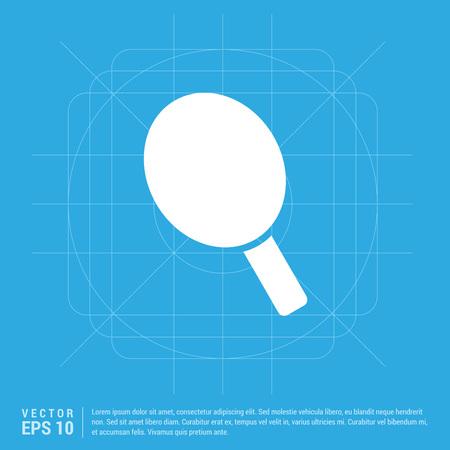 racket icon Illustration