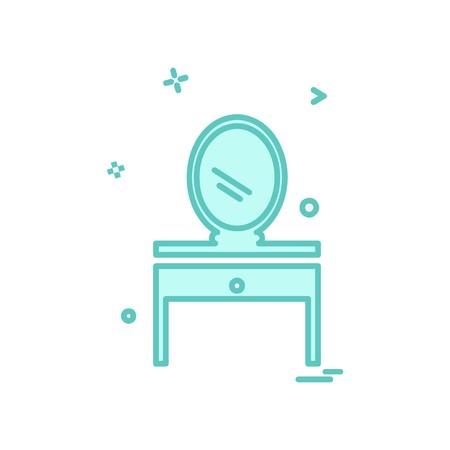 Dressing table icon design vector Vetores