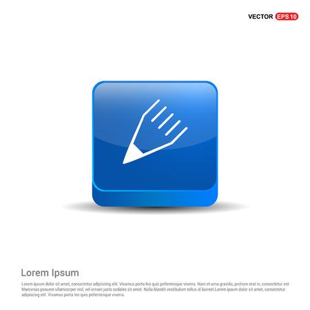 Edit, pencil icon - 3d Blue Button.