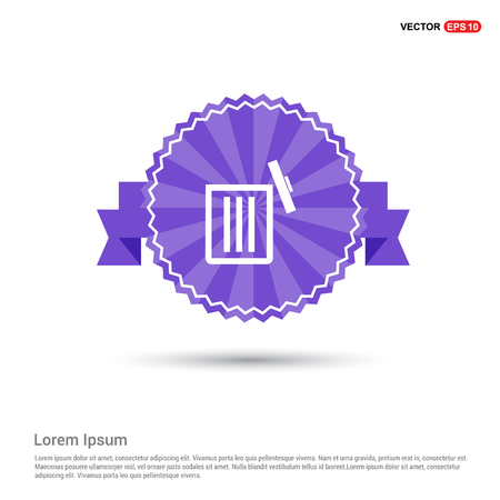 delete icon - Purple Ribbon banner