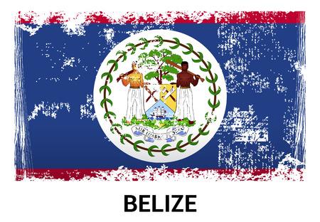 Belize flag design vector Vetores