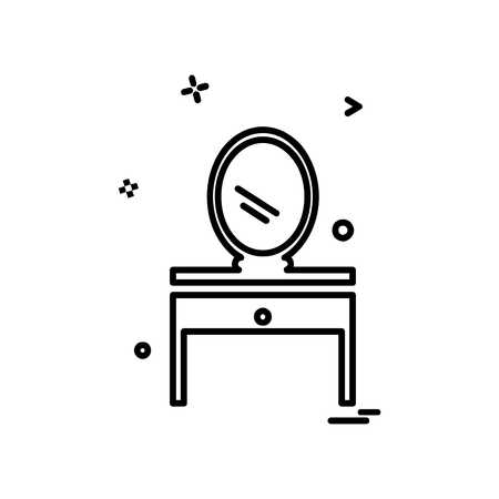 Dressing table icon design vector